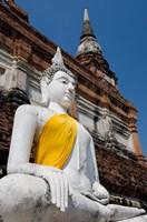 Close up of Buddha statue, Ayutthaya, Thailand Fine Art Print