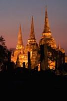 Wat Phra Si Sanphet Temple , Ayutthaya, Thailand Fine Art Print
