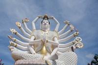 Thailand, Ko Samui, Wat Plai Laem, Kwan Yin Fine Art Print