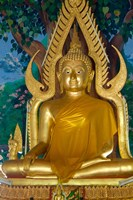 Thailand, Ko Samui, Golden Buddha, Prayer House Fine Art Print