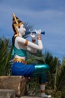 Thailand, Ko Samui, Thai goddess statue Fine Art Print