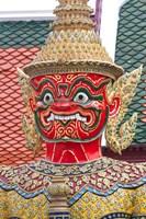 Buddhist mythology yaksa, Temple of the Emerald Buddha, Bangkok, Thailand Fine Art Print