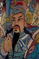 Wall Mural at Wat Po, Bangkok, Thailand Fine Art Print
