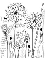 All-A-Flutter BW II Fine Art Print