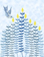 Bird Hanukkah Candles Fine Art Print