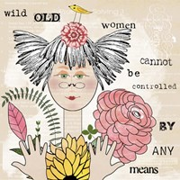 Wild Old Woman I Fine Art Print