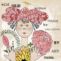 Wild Old Woman II Fine Art Print