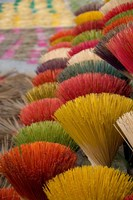 Colorful handmade incense sticks, Da Nang, Vietnam Fine Art Print