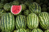 UAE, Abu Dhabi Watermelon at the market Fine Art Print