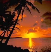 Ocean View at Sunset, Australia Fine Art Print
