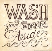 Wash Your Worries Aside Framed Print