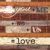 You + Me Framed Print