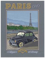 Paris 1961, 4CV Fine Art Print