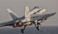 F/A-18C Hornet Taking Off from USS George HW Bush Fine Art Print