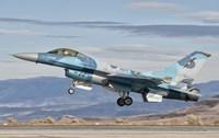 F-16A Fighting Falcon, US Navy TOPGUN Naval Fighter Weapons School Fine Art Print