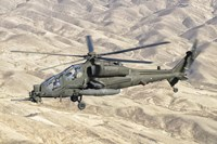 Italian Army AW-129 Mangusta over Afghanistan Fine Art Print