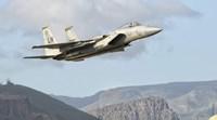US Air Force F-15C Eagle Over Spain Fine Art Print