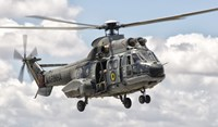 Eurocopter AS332 Super Puma Helicopter of the Brazilian Navy Fine Art Print
