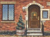 Front Door with Basket Fine Art Print