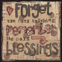 Remember Blessings Fine Art Print