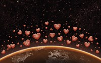 Hearts Over Earth's Horizon Fine Art Print