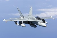 A CF-188A Hornet of the Royal Canadian Air Force (front view) Fine Art Print