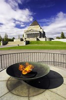 Eternal Flame, Shrine of Rememberance, Melbourne, Victoria, Australia Fine Art Print