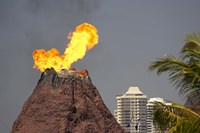 Volcano, Sea World, Gold Coast, Queensland, Australia Fine Art Print