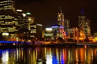 Yarra River, Queens Bridge and CBD, Melbourne, Victoria, Australia Fine Art Print
