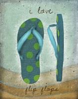I Love Flip-flops Framed Print
