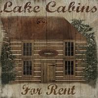 Lake Cabin Framed Print