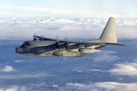 MC-130P Combat Shadow Soars Above the Clouds Fine Art Print
