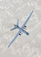 MQ-9 Reaper Training in the White Sands Desert, New Mexico Fine Art Print
