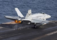 F/A-18C Hornet Taking Off from the USS Dwight D Eisenhower Fine Art Print