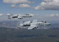 Two A-10 Thunderbolt's Fly over Mountains in Central Idaho Fine Art Print