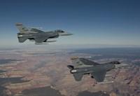 A Pair of F-16's near the Grand Canyon, Arizona Fine Art Print