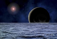 Distant Star Illuminates an Extrasolar Planet Fine Art Print