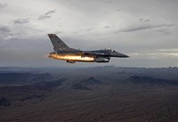 F-16 Fighting Falcon Fires an AGM-65 Maverick Missile Fine Art Print