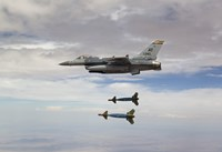 F-16 Fighting Falcon Releases GBU-24 Laser Guided Bombs Fine Art Print