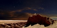 Artist's Depiction of a Lone Astronaut on Another Planet Fine Art Print
