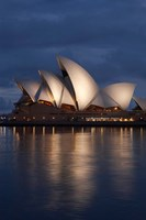 Australia, New South Wales, Sydney Opera House Silhouette Fine Art Print