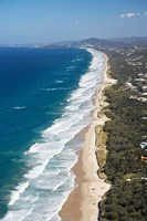Australia, Queensland, Sunshine Beach coastline Fine Art Print