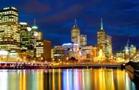 Nighttime View, Melbourne, Australia Fine Art Print