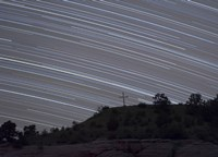 Star Trails over a cross in Oklahoma Fine Art Print