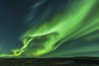 Large Aurora Borealis Display in Iceland Fine Art Print