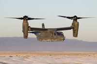 A CV-22 Osprey Flies in Helicopter Mode Fine Art Print