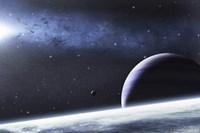 Mysterious Ligh Illuminates a Small Nebula Fine Art Print