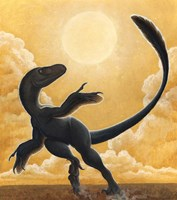 Deinonychus Antirrhopus Dancing in the Sun Fine Art Print