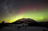 Aurora Borealis and Milky Way over Carcross Desert, Canada Fine Art Print