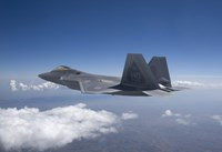 An F-22 Raptor Flies Around Southern New Mexico Fine Art Print